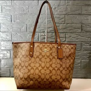 AUTHENTIC COACH INCLINED LARGE TOTE BAG